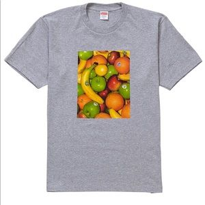 Supreme Fruits Men's Tee Shirt Size XL Grey